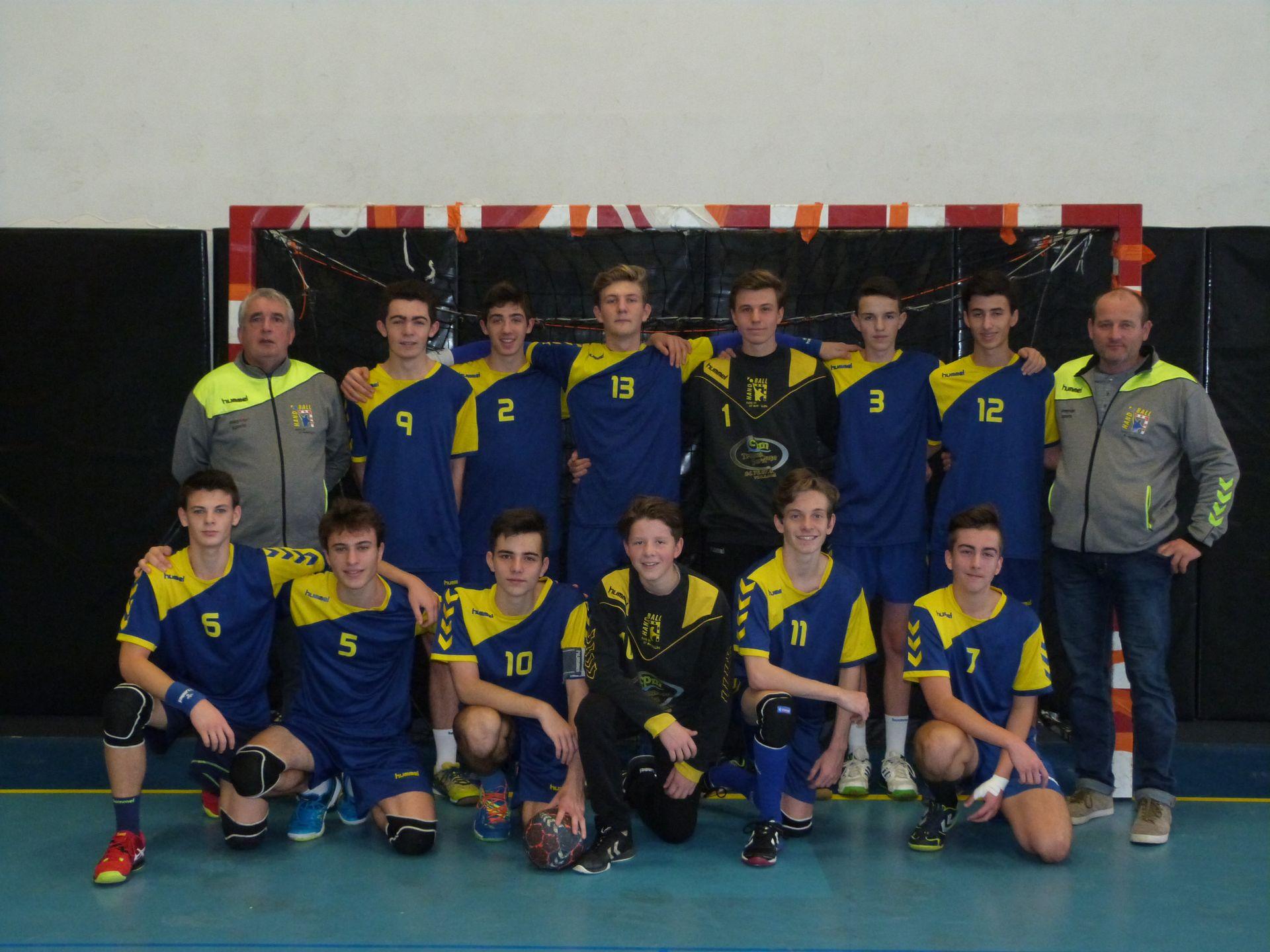 L'équipe des -18 ans Masculins 2017-2018