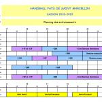 2018-2019 Planning Entrainements
